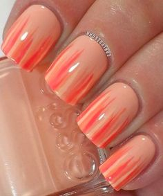 Repinned: Pretty Peach Nails!