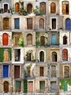 Portes provençales Provence France French doors in Provence
