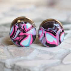 5/8 Pink Plugs 16mm Pink Gauges Clay Gauges Art by FashionPlugs, $29.00