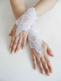 Ücretsiz Gemi, Gelin Eldiven, beyaz, dantel eldiven, parmaksız eldivenler, manşet düğün gelin, gelin eldiven,