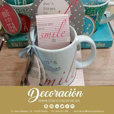 Sonríe a tus mañanas con nuestras #tazas #smile de #BlancoAzahar #Decoración. 😚☕️