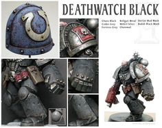 I've long wanted to do a 'truescale' Deathwatch Marine, with my initial effort of Stavus in the Tenax project being […] Figurine Warhammer, Warhammer 40k Figures, Warhammer Paint, Warhammer Models, Warhammer 40k Miniatures, Warhammer 40000, Warhammer Deathwatch, Minis, Mini Paintings