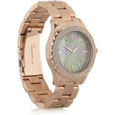 Michael Kors Rose gold-plated stainless steel watch