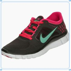 Nike Free Run+ 3 Women's Running Black/Green/Fireberry/Platinum Nike Free Run 3, Nike Free Shoes, Nike Shoes, Running Sneakers, Running Shoes, Sneakers Nike, Nike Free Runners, Discount Nikes, Running Women