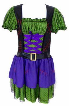 Leg Avenue Hocus Pocus Wicked Witch Sexy S Halloween Costume Cosplay Dress Hat