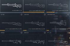 Battlefield 4 Sniper Rifles