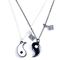 Best Friends Magnetic Yin Yang Necklace ($9.43) ❤ liked on Polyvore featuring jewelry, necklaces, accessories, colar, bijoux, magnet necklace, magnet jewelry, yin yang necklace, yin yang jewelry and magnetic jewelry