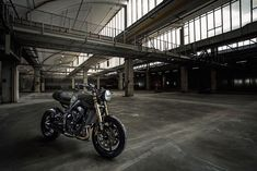 "Classic Cafe Racer with a modern touch. ""Reduce to the essential"", was our duty. ""No fuss at all. Triumph Street Triple, Bikes For Sale, Scrambler, Custom Bikes, Classic, Modern, Austria, Touch, Design"