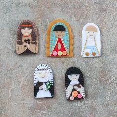 Holy family felt saint dolls catholic toys felt doll easter finger puppet saints catholic toys felt doll easter basket birthday baby shower baptism negle Choice Image