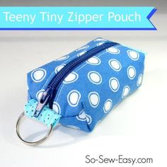 Teeny tiny zipper pouch, coin purse or add to your key ring.