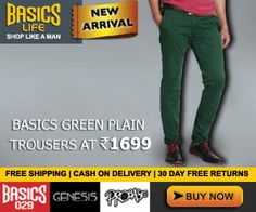 #MyDiscountOffer : New Arrivals Basic Green Plain #Trousers With Additional 25% to 50% OFF On #Sale   Click here for Your Purchase ->