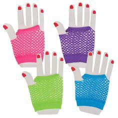Neon Fingerless Fishnet Wrist Gloves (Pair). Great for dress up fun, or for dance recitals. $1.49 per pair, $13.99 per dozen pairs. http://www.partypalooza.com/Merchant2/merchant.mvc?Screen=PROD&Product_Code=GloveFishnet