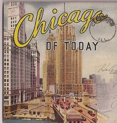 Chicago Skylines vintage souvenir