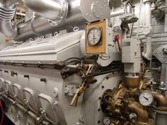 An EMD diesel engine with a Marquette governor control on the John Purves tug boat.