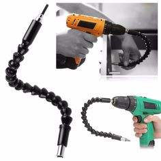 """2PCS 12""""/300MM Flexible Extention Screwdriver Drill Bit Holder with Magnetic Quick Connect Drive Shaft Tip 1/4"""" Hex Shank"""