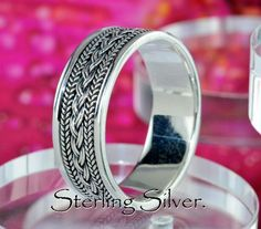 SIZE 12 Sterling Silver Engagement Promise Wedding Thumb Band Men Ring R-223