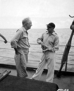 William Powell and director John Ford discuss a scene of Mister Roberts I Movie, Movie Stars, Movie Theater, Victor Fleming, Donald O'connor, William Wyler, John Huston, William Powell, James Cagney