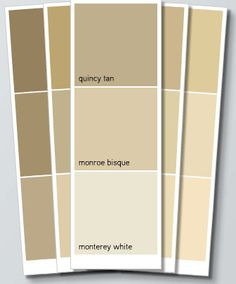 Our new home - colors - for the hallway and stairs area.  Monroe Bisque.