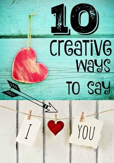 """There are so many fun ways to say, """"I Love You."""" Get creative! Cut out strips of red cardstock and shape them into paper hearts! Paint red hearts on the palms of your hands with washable markers and then open up your hands in your loved one's face. Create a love-themed clothesline with clothespins holding up little messages or photos. Decorate a wrapped gift with paper hearts glued to the top of the packages. Keep reading for more creative ideas from eBay!"""