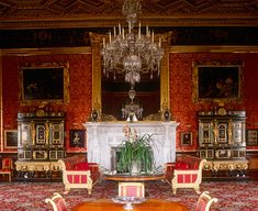 The Drawing Room, Alnwick Castle The Domenico Cucci cabinets on either side of the fireplace were made for Louis XIV, and purchased in 1822 by the acquisitive Duke. Castle Drawing, Castle Painting, Alnwick Castle, Palace Interior, Interior And Exterior, Interior Design, Belton House, Castle Rooms, State Room