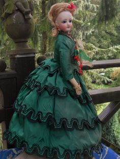 ~~~ Marvelous French Bisque Gaultier Poupee in Original Costume ~~~ from whendreamscometrue on Ruby Lane
