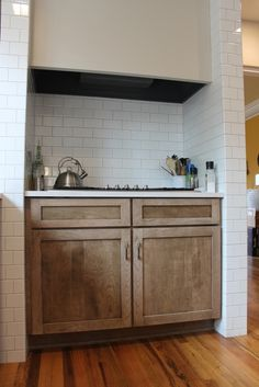 Cherry wood cabinets with a cappuccino stain our for Cherry wood paint for kitchen cabinets