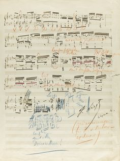 "Liszt, Franz | Lot | Sotheby's Liszt, Franz EXTENSIVELY REVISED SCRIBAL MANUSCRIPT OF LISZT'S PIANO TRANSCRIPTION OF J.S. BACH'S ORGAN FANTASIE (PRAELUDIUM) IN G MINOR BWV 542, SIGNED AND DATED (""F. LISZT WEYMAR 54""), WITH MANY AUTOGRAPH ANNOTATIONS AND REMARKS THROUGHOUT, ADDRESSED TO HANS VON BÜLOW Estimate 8,000 — 10,000 GBP"