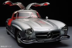 This amazing vehicle was originally owned by Clark Gable. It is a 1955 Mercedes Benz 300 SL Gullwing coupe. If you were watching the Barrett Jackson auto auction on Saturday you know this car failed Mercedes Benz 300 Sl, Mercedes 300sl, Mercedes Models, Classic Mercedes, Classic Sports Cars, Classic Cars, Benz Sls Amg, Automobile, Mercedez Benz