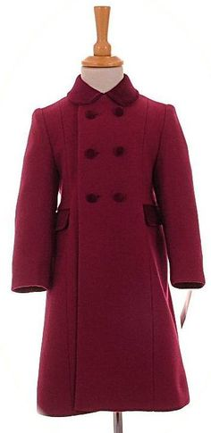 Childs traditional coat in grey | Girls Traditional Classic Wool ...