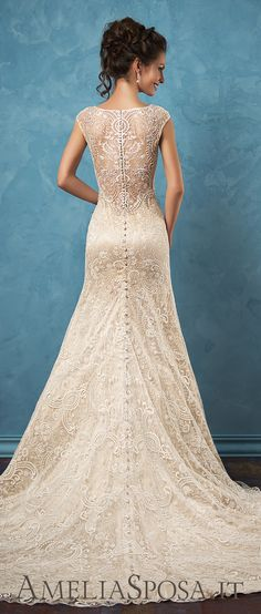 Amelia Sposa aristocratic beaded lace wedding dresses Adele