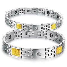 Virgin Shine Stainless Steel Yellow Squares Chain Bracelet Double Colors VIRGIN SHINE http://www.amazon.com/dp/B00MWE8IR4/ref=cm_sw_r_pi_dp_khTRub1308A05