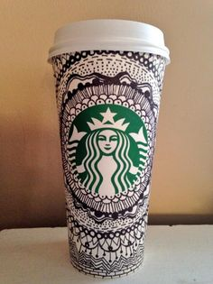 All-over art by Twitter user @downbythemarina. #WhiteCupContest