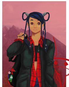 Sana 🐼 . . . . #manga #mangaart #digitalart #digitalpaint #photoshop #asian #panda #originalcharacter #oc #myart #myart🎨 #red #traveler #travel #mountains #mangagirl #artwork