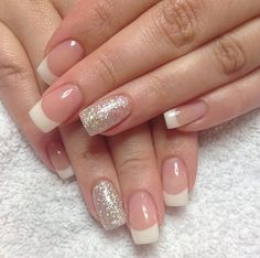 50 super french tip nails to add another dimension i .- 50 super french tip nails to add another dimension to your manicure - French Tip Nail Designs, French Nail Art, French Tip Nails, Nail Art Designs, French Manicures, Nails Design, Glitter French Manicure, French Manicure With Design, White Tip Nails