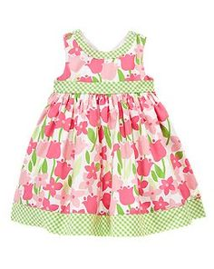 This is Lili's Easter dress.  I found it at Crazy8 thanks to another mama!