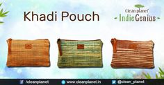 We bring the best of Khadi with impeccable workmanship to create contemporary Accessories. #Pouch #Contemporary #IndieGenius #EcoStyle #EcoPouch #HandcraftedPouch #MulticolorPouch #KhadiPouch