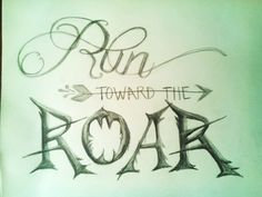 Hand-lettering in pencil