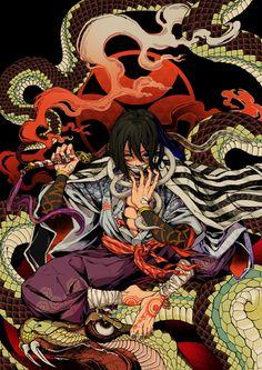 蛇柱 伊黒 小芭内 を描きました。ファンアートです。柱では一番好きです。 traditional, analog lineart, Demon Slayer: Kimetsu no Yaiba / どう処分する 。どう責任を取らせる。どんな目に合わせてやろうか。 - pixiv Manga Anime, Fanarts Anime, Anime Demon, Manga Art, Anime Characters, Anime Art, Demon Slayer, Slayer Anime, Kon Bleach