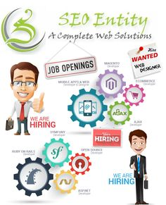 """""""Urgent Job Openings......""""  SEO Entity has below mention job openings.  If you have experience, in your resume clearly mention what experience you have in above mentioned post with expected salary and present salary (if any).   Interested candidates, please email your resume to info@seoentity.com (Email Subject: """"Apply For the Post of : (Any from the above mention post) """")  1) Magento Developer  Criteria: ============== Qualification: Certified Magento Developer Job Location"""
