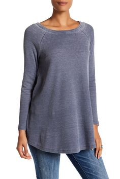 Image of Olivia Sky Washed Solid Thermal Tee