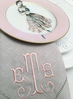Monogrammed Linen Napkins Blake Monogram Table Linens | Home Sweet Home |  Pinterest | Table Linens, Monograms And Linens