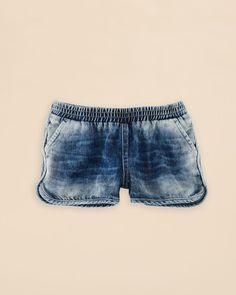 Ralph Lauren Childrenswear Girls' Denim Pull On Shorts - Sizes S-xl
