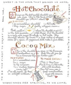 hot chocolate ~ cocoa mix ~ The Murmuring Cottage