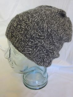 A personal favorite from my Etsy shop https://www.etsy.com/listing/250572343/gray-and-white-wool-hat
