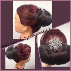 Roll updo by Courtney