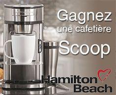 Gagnez une cafetière Scoop Hamilton Beach. Fin le 8 février.   http://rienquedugratuit.ca/concours/scoop-hamilton-beach/
