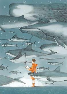 des gens communiant avec la nature par Jin Xingye  Dessein de dessin