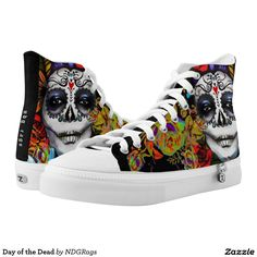 Shop Day of the Dead High-Top Sneakers created by NDGRags. Personalize it with photos & text or purchase as is! Men S Shoes, Top Shoes, Smile Piercing, Men's Day, Black High Tops, Shopping Day, Shoe Art, Custom Sneakers, Day Of The Dead