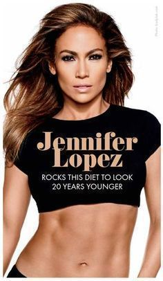 Jennifer Lopez's strict and healthy diet is her key to staying fit and looking 20 year younger. We think we might add this to our meal planning Sunday, so hopefully we can start looking like her too. Popculture.com #celebworkout #jenniferlopez #jlo #jloworkout #fitness #celebrityfitness #workout