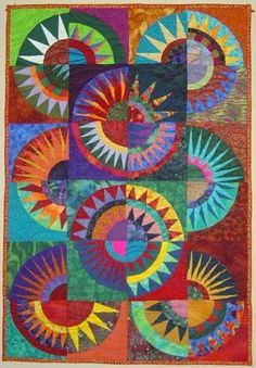 Free patterns for New York Beauty blocks, plus plenty of quilt examples for your inspiration. You can paper piece these blocks (seam allowances have been added) or hand piece.